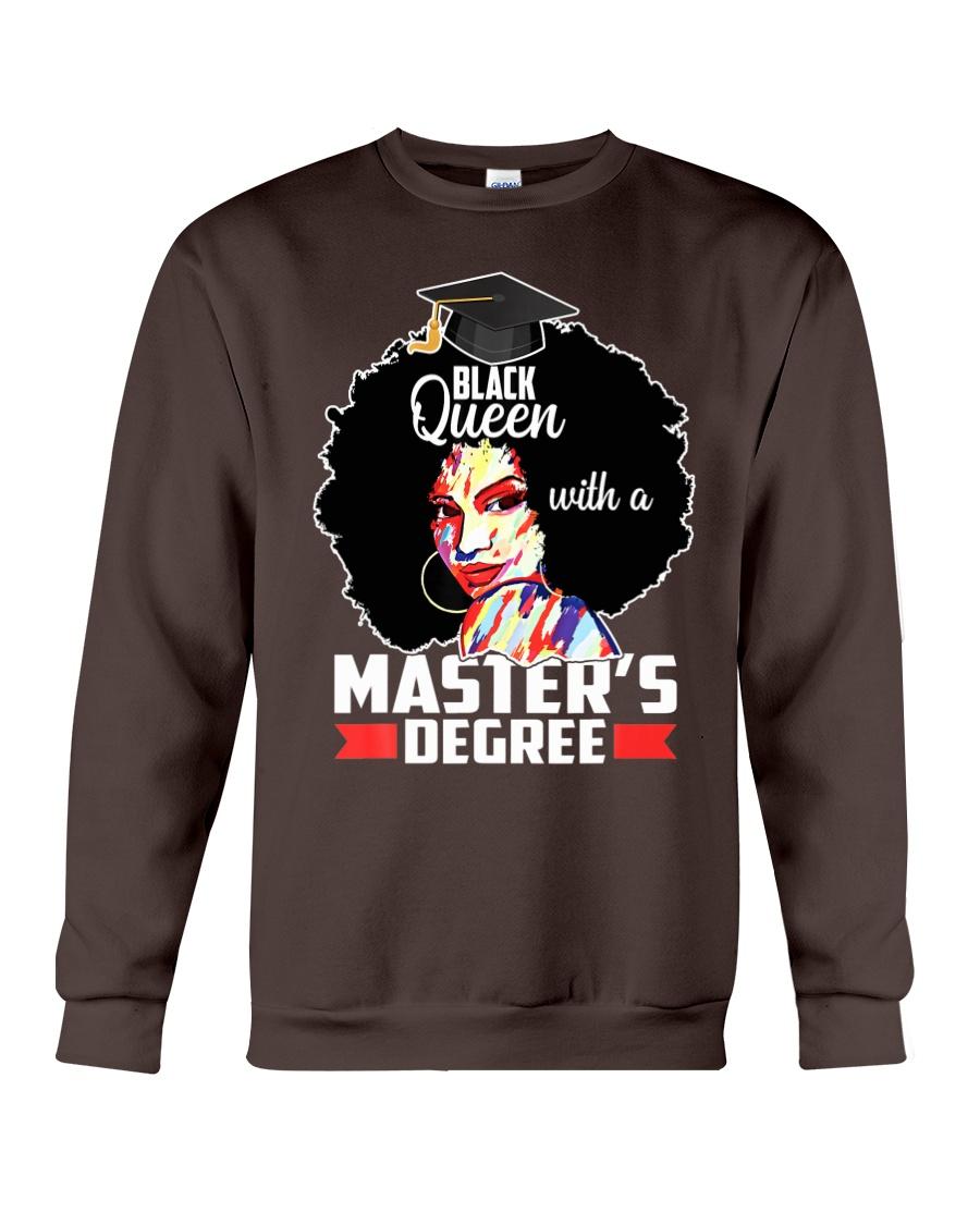 Masters Degree Educated Melanin Black Queen Crewneck Sweatshirt
