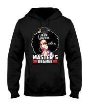 Masters Degree Educated Melanin Black Queen Hooded Sweatshirt thumbnail