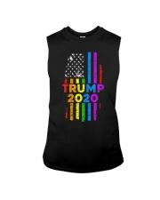 LGBT Gay Pride Rainbow USA Flag Election 2020 Sleeveless Tee thumbnail