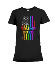 LGBT Gay Pride Rainbow USA Flag Election 2020 Premium Fit Ladies Tee thumbnail