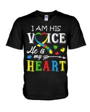Autism Awareness Autism Mom Dad Autism Awareness V-Neck T-Shirt thumbnail