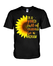 In A World Full Of Grandmas Be A Memaw With V-Neck T-Shirt thumbnail