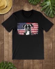 Boxer Dog Lover Vintage American Flag Premium Fit Mens Tee lifestyle-mens-crewneck-front-18
