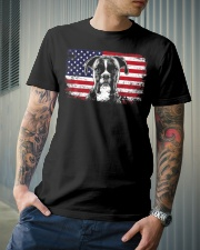 Boxer Dog Lover Vintage American Flag Premium Fit Mens Tee lifestyle-mens-crewneck-front-6
