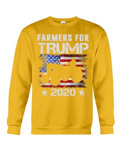 Farmers For Trump 2020 Farmers USA Flag Lover