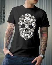 Pug Sugar Skull Funny Halloween Dog Lover Premium Fit Mens Tee lifestyle-mens-crewneck-front-6