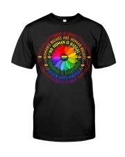 Rainbow Black Lives Matter Science LGBT Pride Premium Fit Mens Tee front