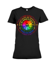 Rainbow Black Lives Matter Science LGBT Pride Premium Fit Ladies Tee thumbnail