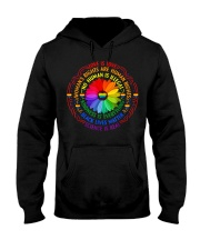 Rainbow Black Lives Matter Science LGBT Pride Hooded Sweatshirt thumbnail