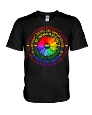 Rainbow Black Lives Matter Science LGBT Pride V-Neck T-Shirt thumbnail