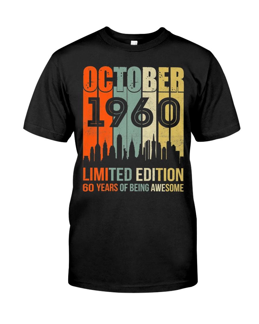 October 1960 60 Year Old 1960 Birthday Premium Fit Mens Tee