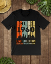 October 1960 60 Year Old 1960 Birthday Premium Fit Mens Tee lifestyle-mens-crewneck-front-18