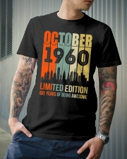 October 1960 60 Year Old 1960 Birthday Premium Fit Mens Tee lifestyle-mens-crewneck-front-6