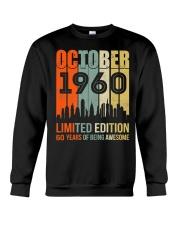 October 1960 60 Year Old 1960 Birthday Crewneck Sweatshirt thumbnail