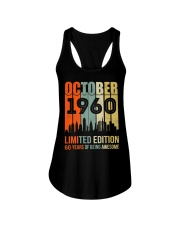 October 1960 60 Year Old 1960 Birthday Ladies Flowy Tank thumbnail