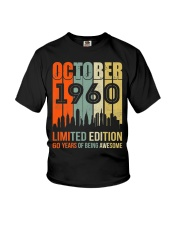 October 1960 60 Year Old 1960 Birthday Youth T-Shirt thumbnail