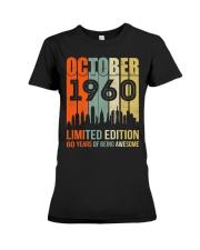 October 1960 60 Year Old 1960 Birthday Premium Fit Ladies Tee thumbnail