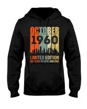 October 1960 60 Year Old 1960 Birthday Hooded Sweatshirt thumbnail
