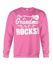 This Grandma Rocks Guitar Rock N Roll Funny Crewneck Sweatshirt front