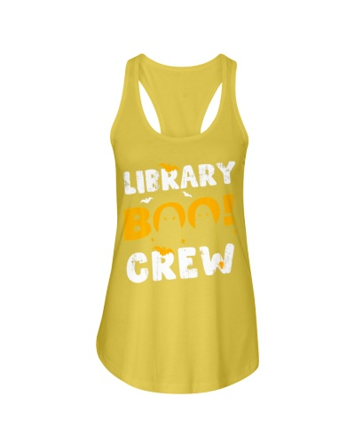 Funny Library Crew Halloween Librarian Books