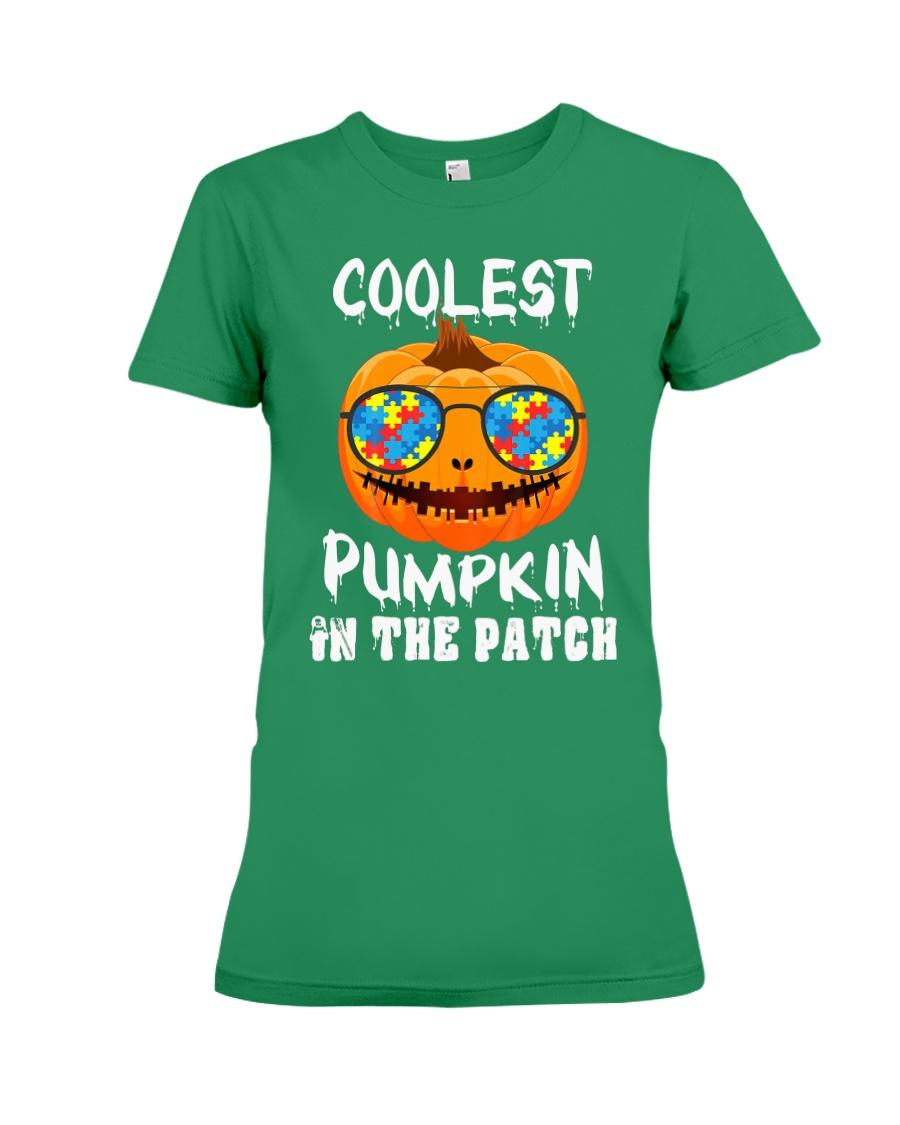 Kids Coolest Pumpkin In The Patch Halloween Premium Fit Ladies Tee