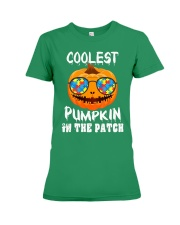 Kids Coolest Pumpkin In The Patch Halloween Premium Fit Ladies Tee front