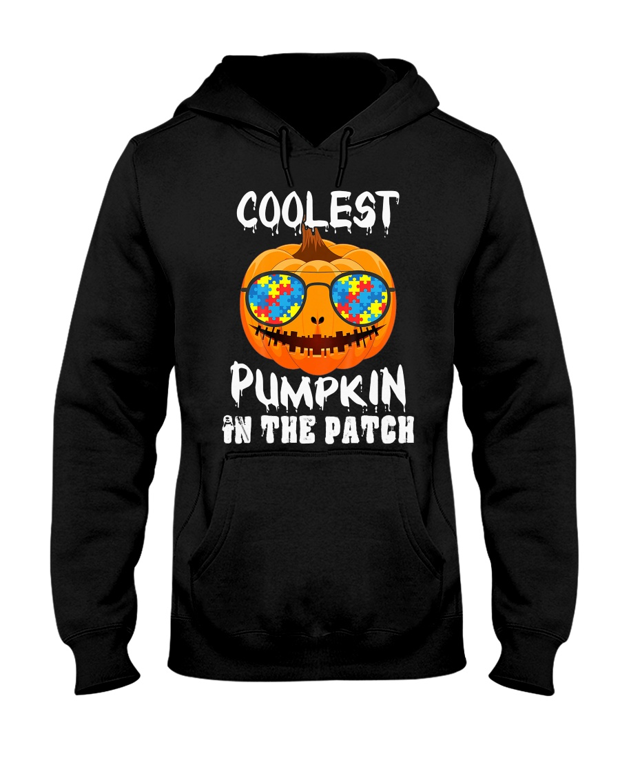 Kids Coolest Pumpkin In The Patch Halloween Hooded Sweatshirt