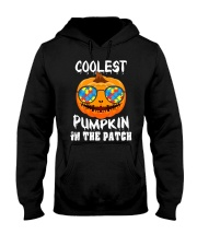Kids Coolest Pumpkin In The Patch Halloween Hooded Sweatshirt front