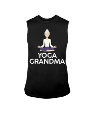 Yoga Grandma Cool Meditating Grandmother Sleeveless Tee tile