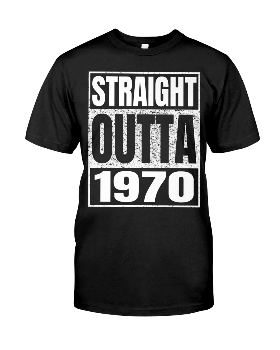Straight Outta 1970 50th Birthday 50 Years Age Premium Fit Mens Tee