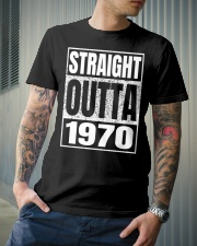 Straight Outta 1970 50th Birthday 50 Years Age Premium Fit Mens Tee lifestyle-mens-crewneck-front-6