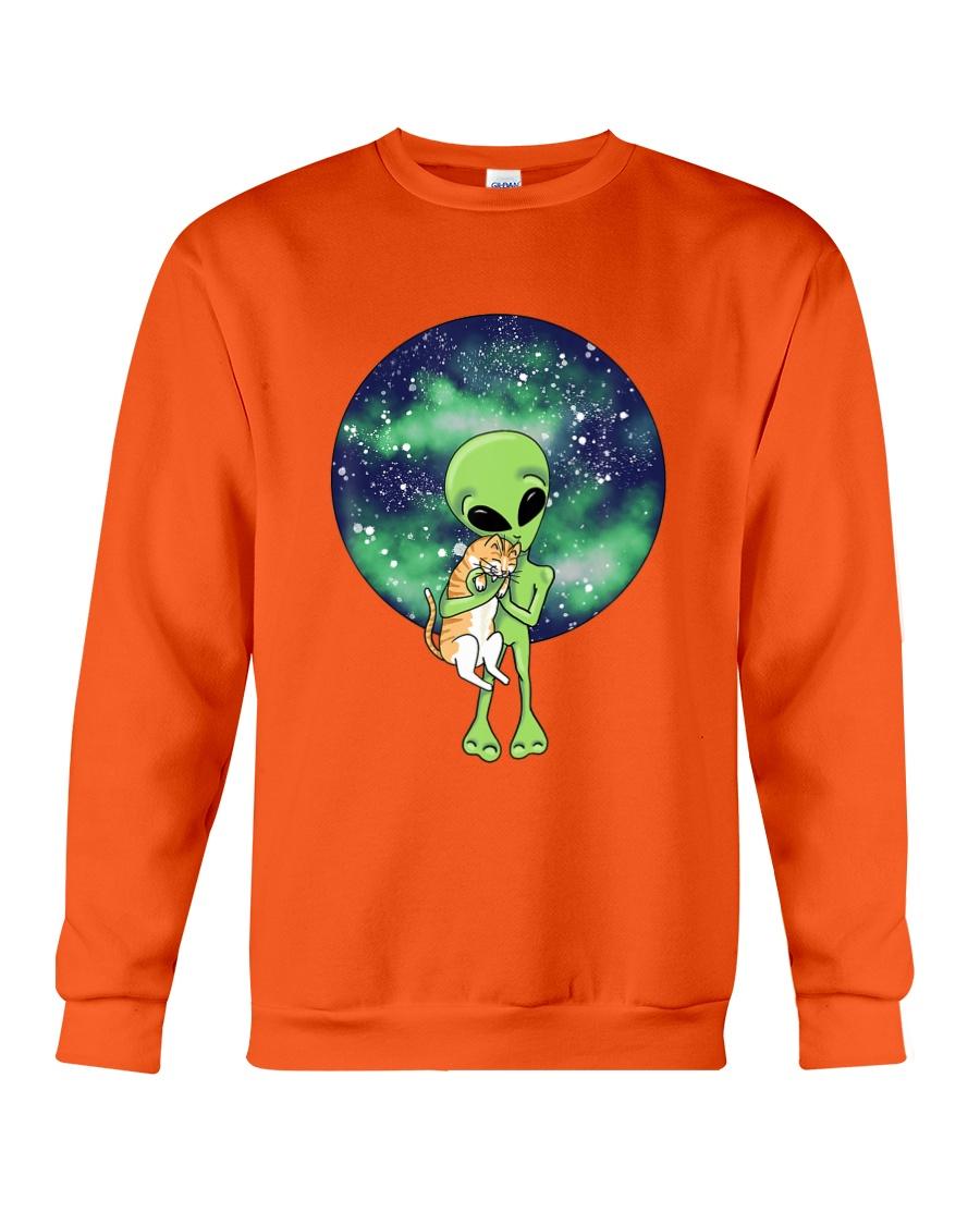 Alien And The Cat Crewneck Sweatshirt