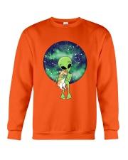 Alien And The Cat Crewneck Sweatshirt front