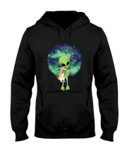 Alien And The Cat Hooded Sweatshirt thumbnail