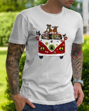 Cute Dogs in Red Car Funny Classic T-Shirt lifestyle-mens-crewneck-front-7