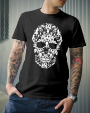 Skull German Shepherd Dogs Funny Halloween Costume Premium Fit Mens Tee lifestyle-mens-crewneck-front-6