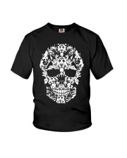 Skull German Shepherd Dogs Funny Halloween Costume Youth T-Shirt thumbnail