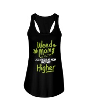 Weed Mom 420 Pot Cannabis Leaf Only Way Ladies Flowy Tank thumbnail