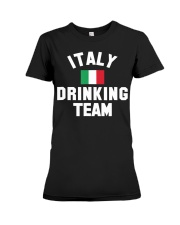 Italy Drinking Team Italy Beer Festivals Premium Fit Ladies Tee thumbnail