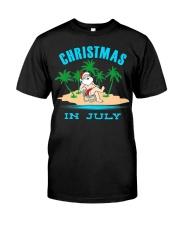 Merry Christmas In July Funny Santa Xmas Party Premium Fit Mens Tee thumbnail
