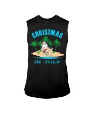 Merry Christmas In July Funny Santa Xmas Party Sleeveless Tee thumbnail