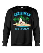 Merry Christmas In July Funny Santa Xmas Party Crewneck Sweatshirt thumbnail