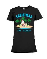 Merry Christmas In July Funny Santa Xmas Party Premium Fit Ladies Tee thumbnail