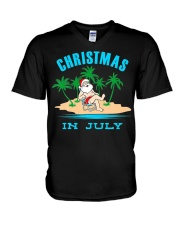 Merry Christmas In July Funny Santa Xmas Party V-Neck T-Shirt thumbnail
