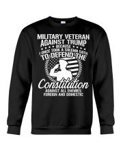 Military Veterans Against Trump 2020 USA Election Crewneck Sweatshirt thumbnail