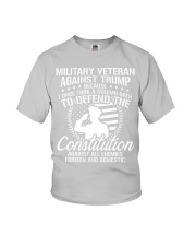 Military Veterans Against Trump 2020 USA Election Youth T-Shirt front