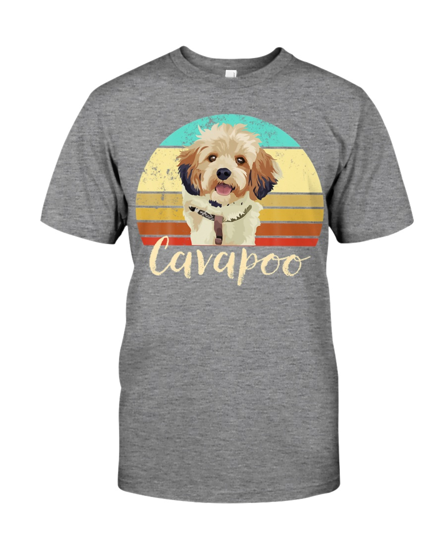 Cute Cavapoo Dog Vintage Pet Owner Graphic Premium Fit Mens Tee