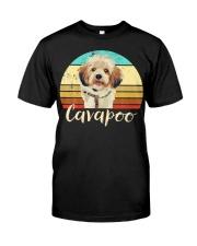 Cute Cavapoo Dog Vintage Pet Owner Graphic Premium Fit Mens Tee thumbnail