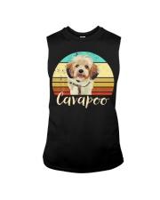 Cute Cavapoo Dog Vintage Pet Owner Graphic Sleeveless Tee thumbnail