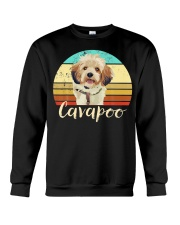 Cute Cavapoo Dog Vintage Pet Owner Graphic Crewneck Sweatshirt thumbnail